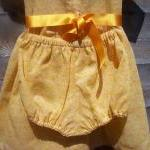 Baby girls orange cotton fl..