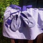 Baby girls purple gingham s..