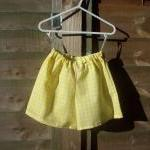 Girls yellow sleeveless top..