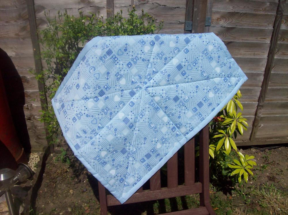 Boys buggy quilt, cover up, pram cover